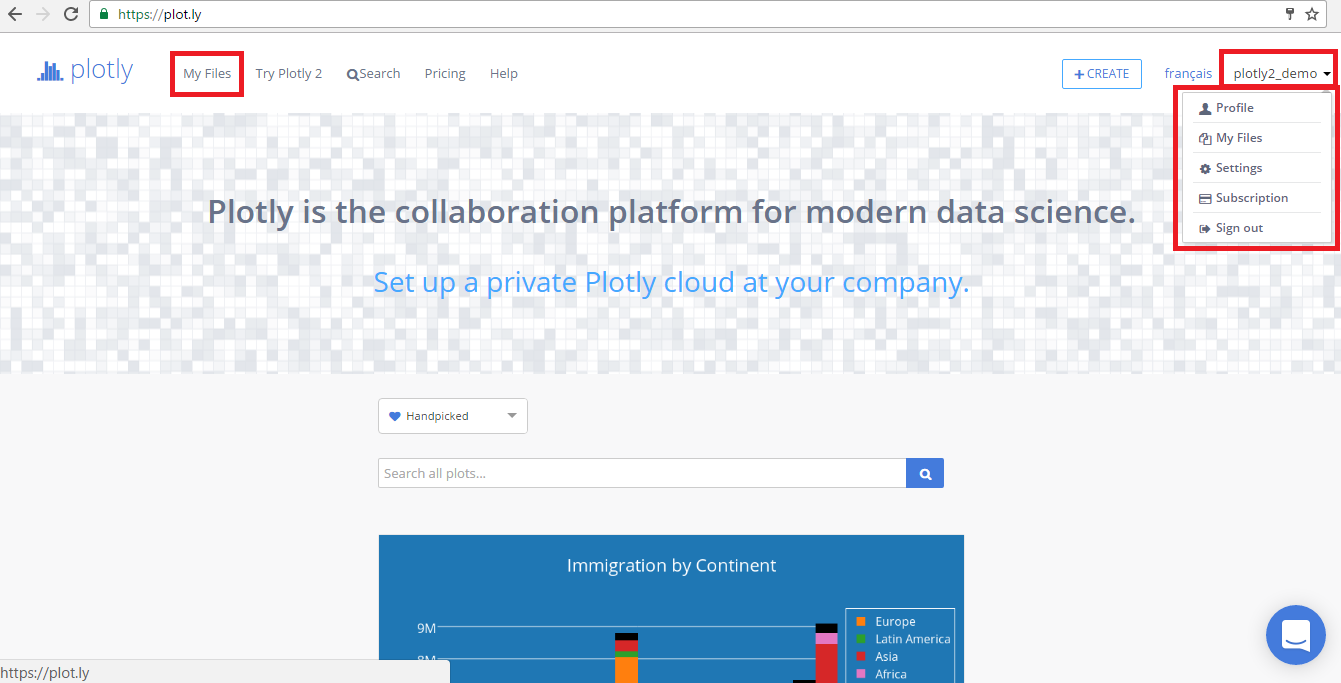 Plotly Homepage